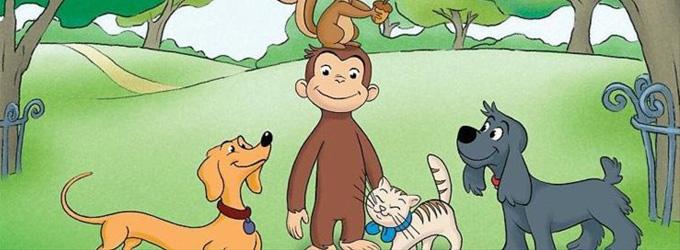 Małpka maluje obraz