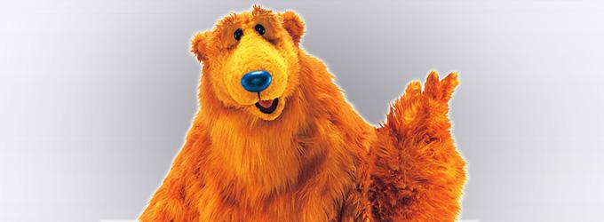 Niedźwiedź w dużym niebieskim domu